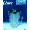 Oster - Jarra de vidrio  para batidoras- VASO Y TAPA