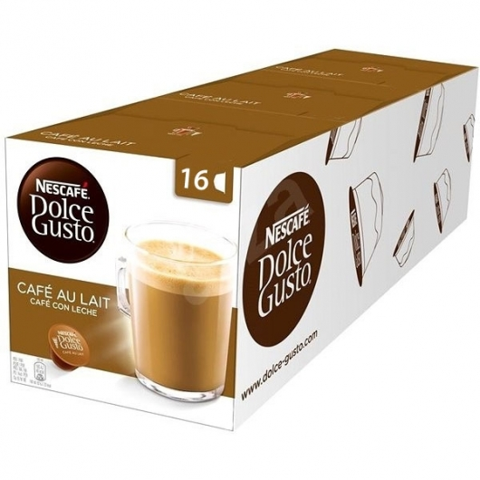 DOLCE GUSTO Capsulas CAFE CON LECHE pack 3x16