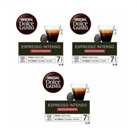 DOLCE GUSTO PACKS 3 ESPRESSO INTENSO DESCAFEINADO
