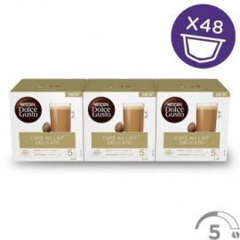 Dolce Gusto Capsulas Cafe con Leche Delicato  3x16  48 capsulas